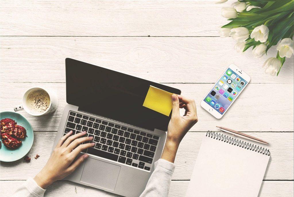 ordinateur portable, ordinateur, affaires