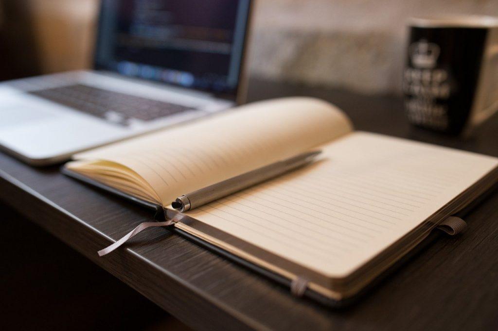 stylo, ouverte, ordinateur portable
